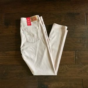 NWT! Levi's 311 High Rise Shaping Skinny Pale Pink